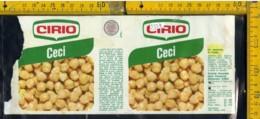 Etichetta Alimentare Ceci Cirio - Etichette