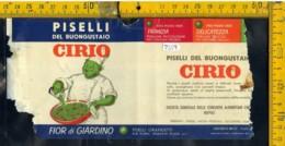 Etichetta Alimentare Piselli Cirio - Etichette