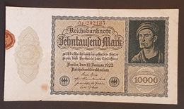 EBN8 - Germany 1922 Banknote 10000 Mark Pick 71 Smaller Size  #6p.202135 - [ 3] 1918-1933 : República De Weimar