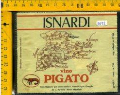 Etichetta Vino Liquore Pigato 1974 Isnardi  Porto Maurizio - Other