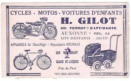 Buvard - GILOT Auxonne Agent TERROT Moto Et Vélo - Moto & Vélo
