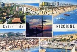 Saluti Da Riccione - 80 - Formato Grande Viaggiata – E 10 - Rimini