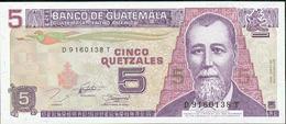 5 QUETZALS 1982 - Guatemala
