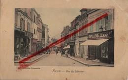 (Oise) Noyon - 60 - Rue Des Merciers (animée, Colorisée) écrite En Allemand (circulé 1914) Feldpost - Noyon