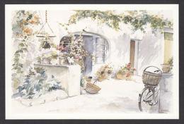 PC179/ Chantal CRESTANT, *L'heure Tranquille*, Aquarelle, Ed Aquarupella - Peintures & Tableaux