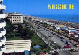 Riccione - Lungomare E Spiaggia - 2605 - Formato Grande Viaggiata – E 10 - Rimini