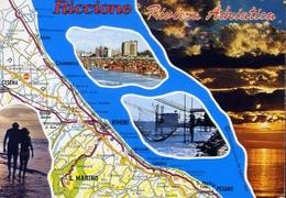 Riccione - Riviera Adriatica - Formato Grande Viaggiata – E 10 - Rimini