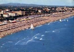 Riccione - Veduta Aerea Della Spiaggia - Formato Grande Viaggiata – E 10 - Rimini