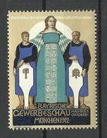 Deutschland 1912 Bayerische Gewerbeschau München Werbemarke MNH - Vignetten (Erinnophilie)
