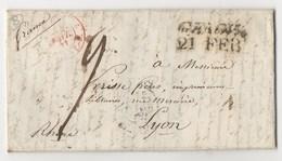 LETTRE DE GENOVA POUR LYON DU 17/02/1841 - Italia