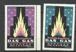Germany 1914 Ausstellung Das Gas München Vignetten Werbemarken MNH - Vignetten (Erinnophilie)