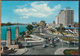 °°° 13104 - EGYPT - CAIRO - THE NILE CORNICHE AND NILE HILTON HOTEL °°° - Cairo