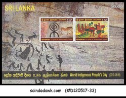 SRI LANKA - 2010 WORLD INDIGENOUS PEOPLE'S DAY - MIN/SHT MNH - Sri Lanka (Ceylon) (1948-...)