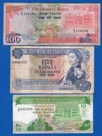 Mauritius  3  Billets - Mauritius