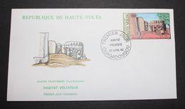 Enveloppe-1-jour-Haute-volta-Habitat-voltaique-23-Avril-1982-100-cfa - Upper Volta (1958-1984)