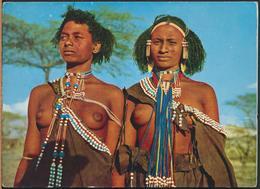 °°° 13107 - ETHIOPIA ETIOPIA - YOUNG GALLA GIRLS SIDAMO - 1967 With Stamps °°° - Etiopia
