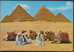 °°° 13108 - EGYPT - GIZA - PRAYER NEAR THE PYRAMIDS - 1976 With Stamps °°° - Gizeh