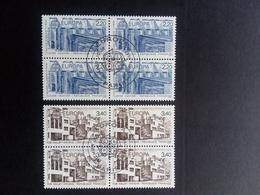 FRANKREICH MI-NR. 2603-2604 O 4er Block EUROPA 1987 - MODERNE ARCHITEKTUR - Europa-CEPT