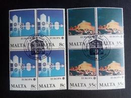 MALTA MI-NR. 766-767 O 4er BLOCK EUROPA 1987 - MODERNE ARCHITEKTUR ST. JOSEPHS-KIRCHE - Europa-CEPT
