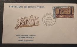 Enveloppe-1-jour-Haute-volta-Habitat-voltaique-23-Avril-1982-250-cfa - Upper Volta (1958-1984)