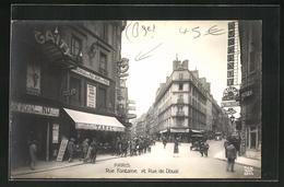 CPA Paris, Rue Fontaine Et Rue De Douai, Vues De Rues - Zonder Classificatie