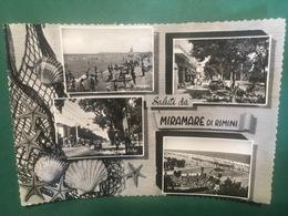 Cartolina Saluti Da Miramare Di Rimini - 1958 - Rimini