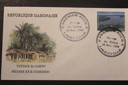 Enveloppe-1° Jour-Gabon Paysage Du Gabon 18 11 1989 - Gabon (1960-...)