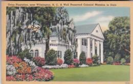 North Carolina Wilmington Orion PLantation Colonial Mansion 1944 - Wilmington