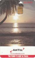 SEYCHELLES ISL.(chip) - Sunset, AIRTEL Telecard First Issue 50 Units, Used - Seychellen
