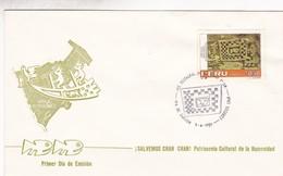 AREA INTANGIBLE PRO RESTAURACION CHAN CHAN-FDC LIMA PERU 1986 - BLEUP - Arqueología