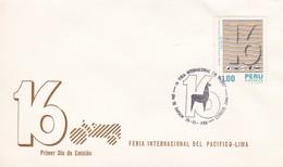 16 FERIA INTERNACIONAL DEL PACIFRICO-FDC LIMA PERU 1986 - BLEUP - Peru