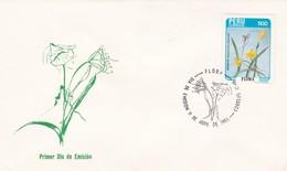 FLORA. AMANCAY, HYMENOCALLIS AMANCAES-FDC LIMA PERU 1986 - BLEUP - Vegetales