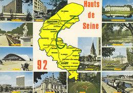92 Carte Des Hauts De Seine (2 Scans) - France
