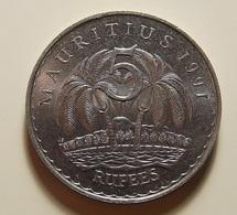 Mauritius 5 Rupees 1991 Varnished - Maurice