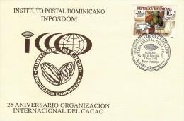 DOMINICAN ICCO INTL COCOA ORG Of AMERICA & EUROPE Sc 1285 FDC 1998 - Dominikanische Rep.