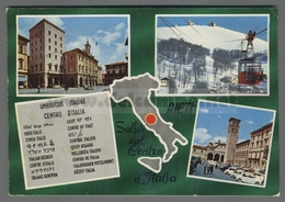 V8733 RIETI SALUTI DAL CENTRO D ITALIA VEDUTE (m) - Rieti