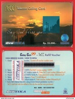 L35- Indonesia Telkom TeCC Telkom Calling Card Say Peace  Mint - Phonecards