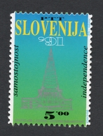 1991 SLOVENIA INDEPENDENCE 1ST Stamp Issued MNH - Slovénie