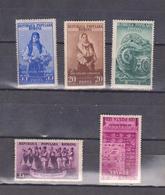 FOLKLORE, TRADITIONAL CULTURE ROMANIA 1953, SET 5V. MNH, MI 1430-34 - 1948-.... Republics