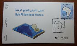 MOROCCO MARRUECOS  MAROC TIMBRES  ENVELOPPE COVER FDC PREMIER JOUR HUB PHILATELIQUE AFRICAIN 2016 - Morocco (1956-...)