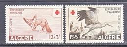 FRENCH  ALGERIA  B 88-9  **  FAUNA  FENNEC &  STORK - Algeria (1924-1962)
