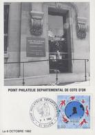Carte   FRANCE  Ouverture  Du  Point  Philatélique  Départemental  DIJON   1992 - Poste