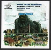 Indonesien Indonesia 2017 S/sh 4/5 ** / Mnh Gorilla Exhibition Sheet # 2.000 - Indonesia