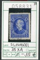 Slowakei - Slowakische Republik - Slovensko - Michel  35 XA - Oo Oblit. Used Gebruikt - - Slowakische Republik