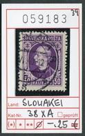 Slowakei - Slowakische Republik - Slovensko - Michel  38 XA - Oo Oblit. Used Gebruikt - - Slowakische Republik
