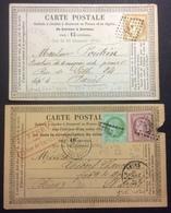 "CP21 2 Cartes Précurseur N°9 T53-58 GC 347 Batignoles ""Ferry"" N°10 T55 LRP Gare Niort - Postal Stamped Stationery"