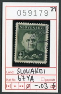 Slowakei - Slowakische Republik - Slovensko - Michel  67 YA - Oo Oblit. Used Gebruikt - - Slowakische Republik