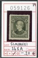 Slowakei - Slowakische Republik - Slovensko - Michel  36 XA - ** Mnh Neuf Postfris - Slowakische Republik