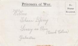 1917: POW In France, Via London, Musketier, To Sinzig/Rhein, Censor - Germany