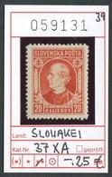 Slowakei - Slowakische Republik - Slovensko - Michel  37 XA - ** Mnh Neuf Postfris - Slowakische Republik